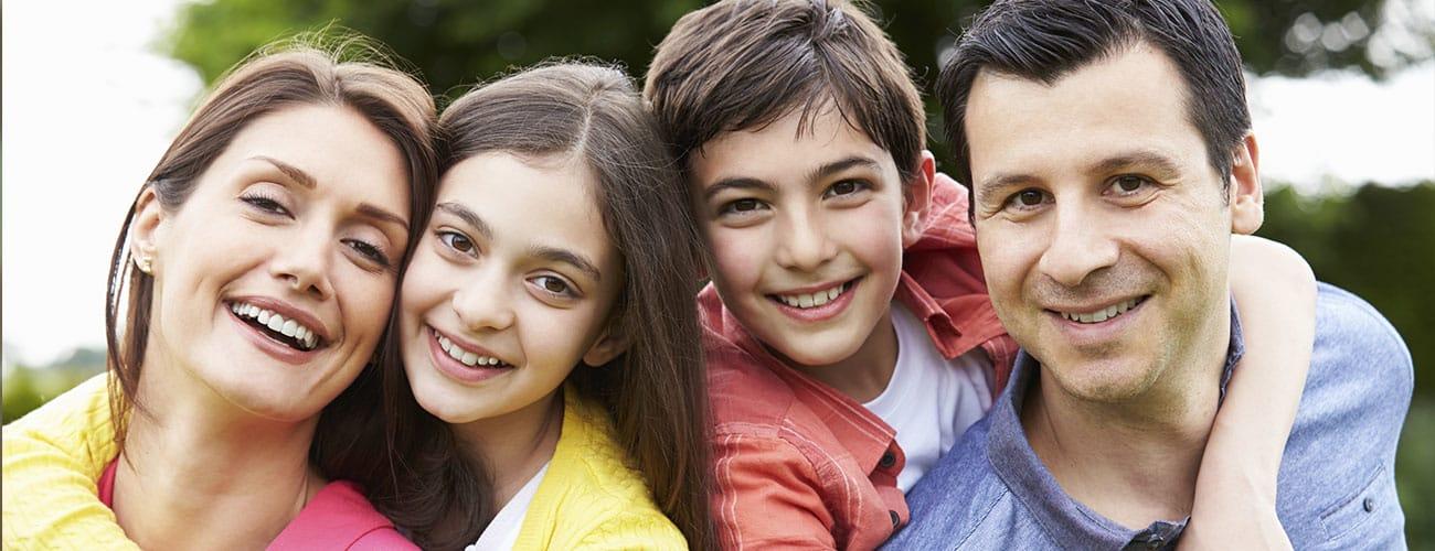 Fabulous Smiles Orthodontics Family Outdoors Smiling