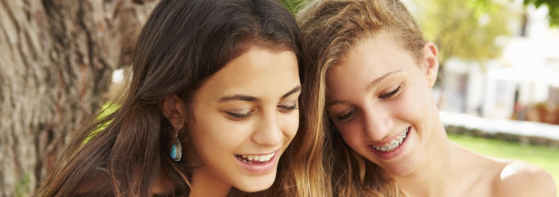 Fabulous Smiles Orthodontics Teen Girls Smiling Outdoors
